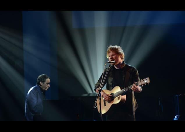 Jools Holland and Ed Sheeran